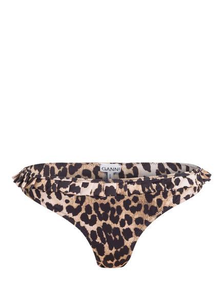 GANNI Bikini-Hose, Farbe: SCHWARZ/ BEIGE (Bild 1)