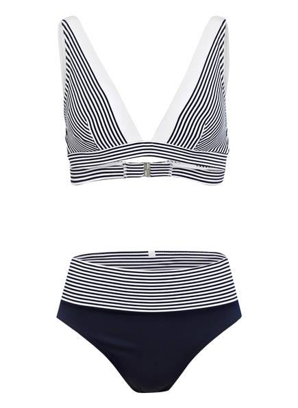 IODUS Triangel-Bikini LEZAKA, Farbe: MARINE/ WEISS (Bild 1)