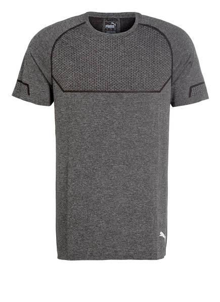 PUMA T-Shirt ENERGY SEAMLESS, Farbe: SCHWARZ MELIERT (Bild 1)