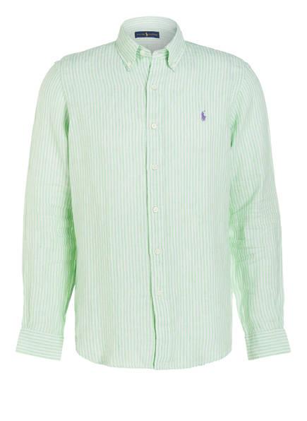 POLO RALPH LAUREN Leinenhemd Regular Fit , Farbe: HELLGRÜN/ WEISS  GESTREIFT (Bild 1)