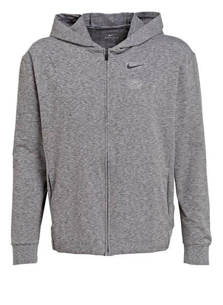 Nike Sweatjacke DRI-FIT, Farbe: GRAU MELIERT (Bild 1)