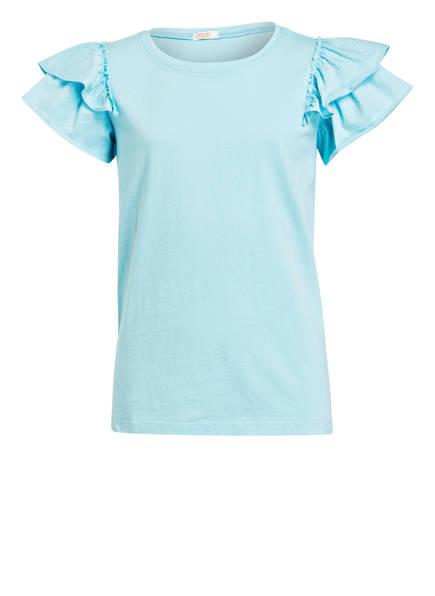 J.Crew T-Shirt mit Volantsärmel, Farbe: TÜRKIS (Bild 1)