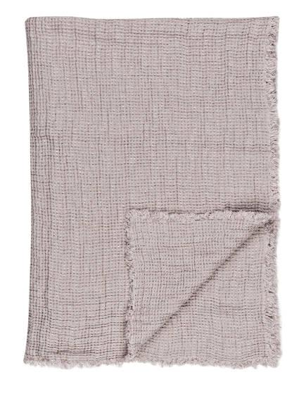 zoeppritz Leinen-Plaid HONEYBEE , Farbe: HELLGRAU (Bild 1)