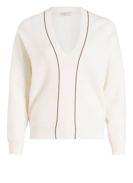 BRUNELLO CUCINELLI Cashmere-Pullover, Farbe: CREME (Bild 1)