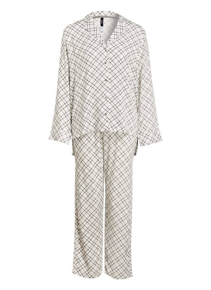 MARIE JO L'AVENTURE Schlafanzug , Farbe: WEISS/ SCHWARZ (Bild 1)