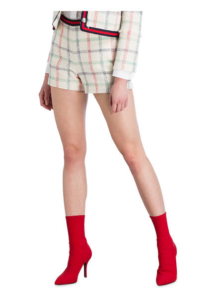 Tweed Kariert Pierlot Rot Creme shorts Ela Blau Claudie 0w5qa4Zx4