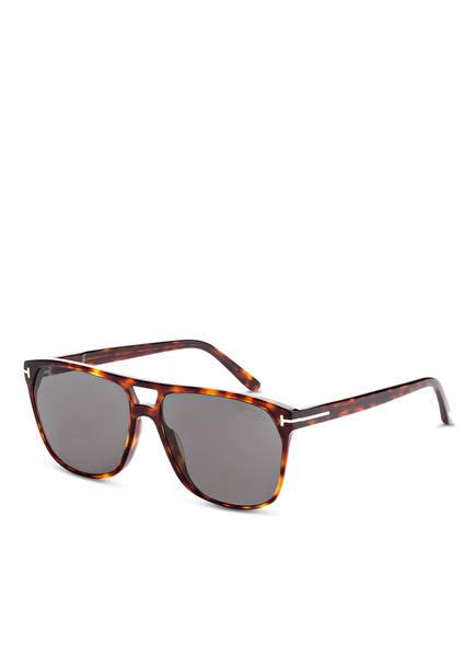 TOM FORD Sonnenbrille SHELTON, Farbe: 54D - HAVANA/ GRAU POLARISIERT (Bild 1)