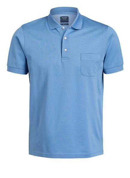 OLYMP Piqué-Poloshirt modern fit, Farbe: HELLBLAU (Bild 1)