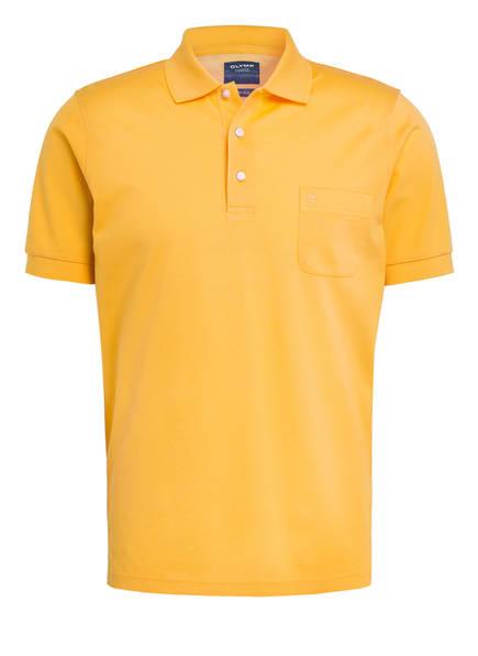 OLYMP Piqué-Poloshirt modern fit, Farbe: GELB (Bild 1)
