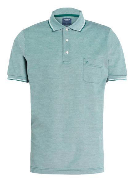 OLYMP Piqué-Poloshirt modern fit , Farbe: GRÜN/ WEISS MELIERT (Bild 1)