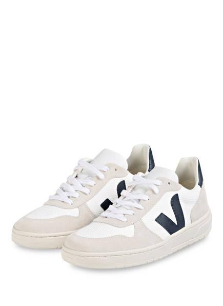 VEJA Sneaker V-10, Farbe: CREME/ WEISS (Bild 1)