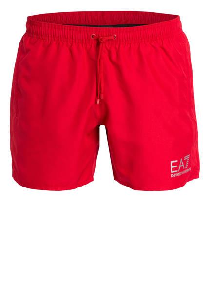 EA7 EMPORIO ARMANI Badeshorts, Farbe: ROT (Bild 1)