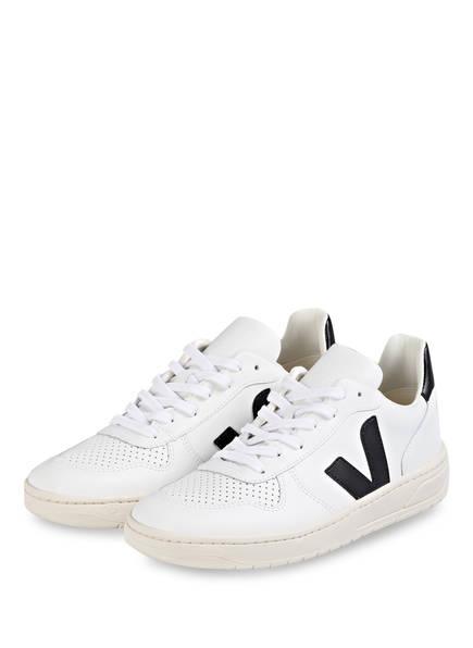 VEJA Sneaker V-10 , Farbe: WEISS/ SCHWARZ (Bild 1)