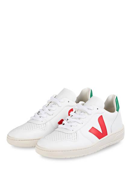 VEJA Sneaker V-10 , Farbe: WEISS/ ROT (Bild 1)