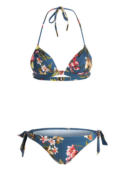 MARYAN MEHLHORN Push-up-Bikini FLEURI, Farbe: BLAU/ GRÜN/ ROSA (Bild 1)