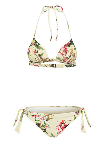 MARYAN MEHLHORN Push-up-Bikini FLEURI, Farbe: GELB/ GRÜN/ ROT (Bild 1)