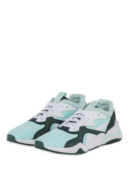 PUMA Sneaker NOVA 90'S BLOC, Farbe: MINT/ WEISS/ DUNKELGRÜN (Bild 1)
