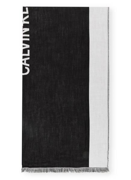 Calvin Klein Jeans Schal, Farbe: SCHWARZ/ HELLGRAU (Bild 1)