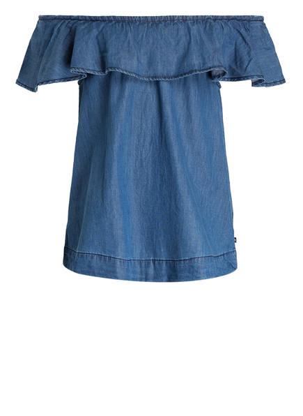 molo Off-Shoulder-Bluse , Farbe: BLAU (Bild 1)