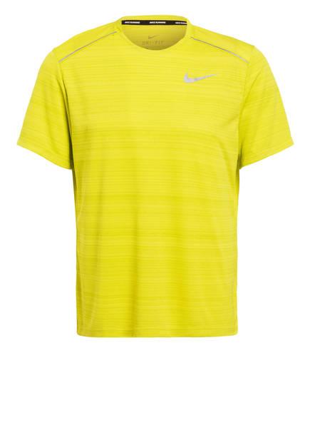 Nike Laufshirt DRI-FIT MILER, Farbe: GELB (Bild 1)