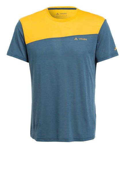 VAUDE T-Shirt SVEIT, Farbe: PETROL/ ORANGE (Bild 1)