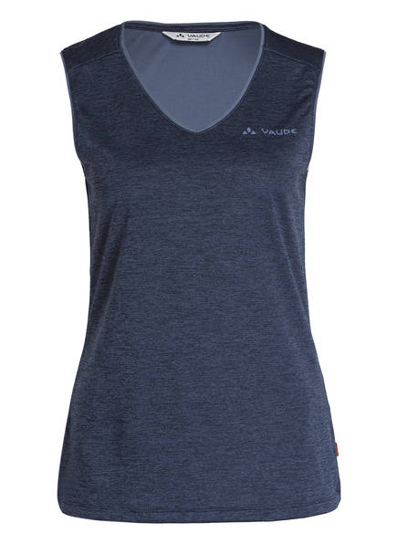 VAUDE Funktionsshirt ESSENTIAL Regular Fit, Farbe: DUNKELBLAU MELIERT (Bild 1)