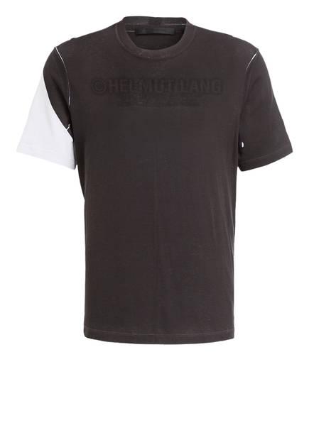 HELMUT LANG T-Shirt mit monochromen Logo-Print, Farbe: SCHWARZ/ WEISS (Bild 1)