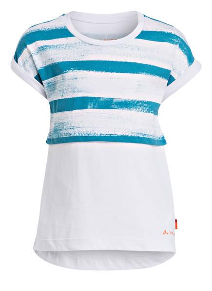 VAUDE T-Shirt TAMMAR II , Farbe: WEISS/ TÜRKIS (Bild 1)