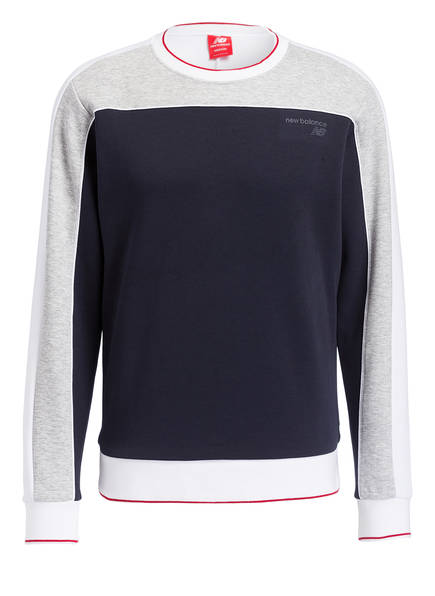 new balance Sweatshirt ATHLETICS CREW, Farbe: NAVY/ GRAU MELIERT (Bild 1)