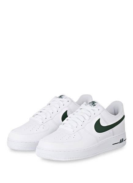 Nike Sneaker AIR FORCE 1 '07, Farbe: WEIß/ DUNKELGRÜN (Bild 1)