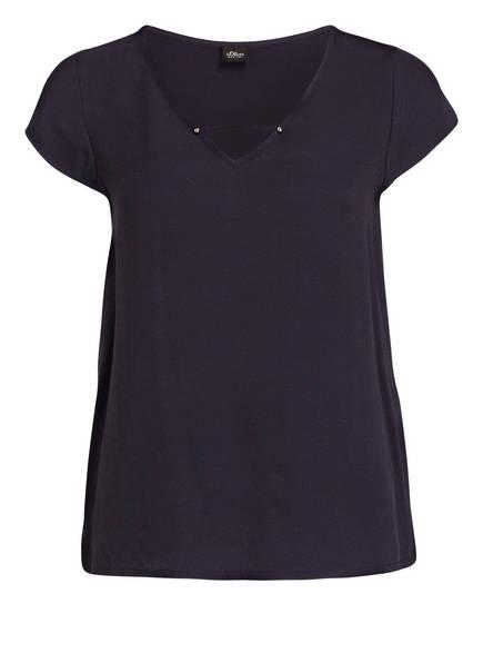 s.Oliver BLACK LABEL T-Shirt, Farbe: DUNKELBLAU (Bild 1)
