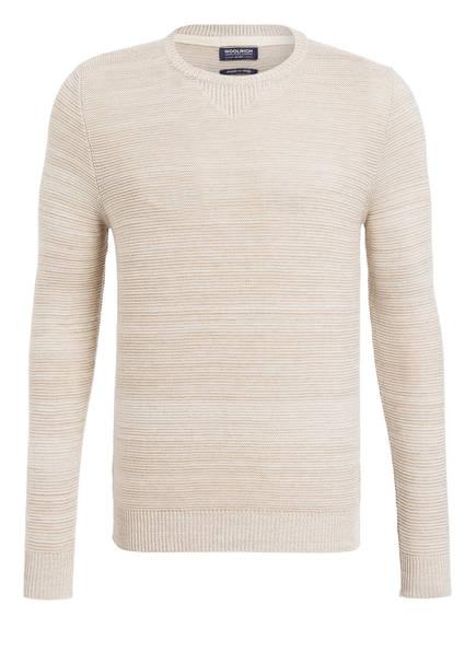 WOOLRICH Pullover in Struktur-Strick, Farbe: BEIGE (Bild 1)