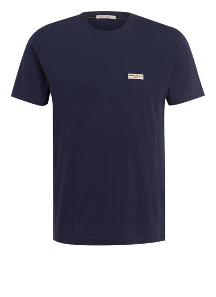Nudie Jeans T-Shirt DANIEL, Farbe: DUNKELBLAU (Bild 1)