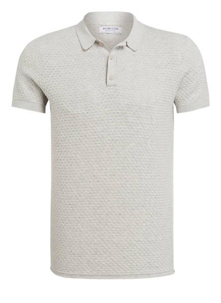 DSTREZZED Strick-Poloshirt, Farbe: HELLGRAU MELIERT (Bild 1)