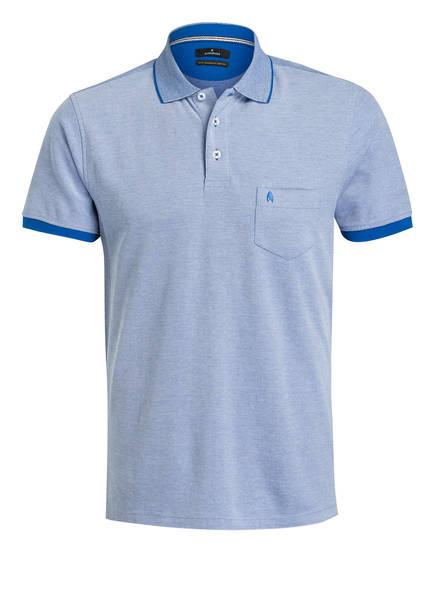 RAGMAN Piqué-Poloshirt, Farbe: BLAU/ WEISS (Bild 1)