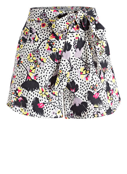 MAX & Co. Leinen-Shorts CENTRINO, Farbe: CREME/ SCHWARZ/ GELB (Bild 1)