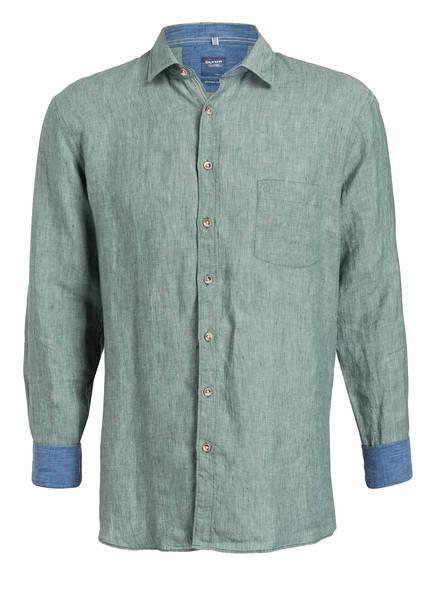 OLYMP Leinenhemd Casual modern fit, Farbe: WEISS/ GRÜN/ BLAU (Bild 1)