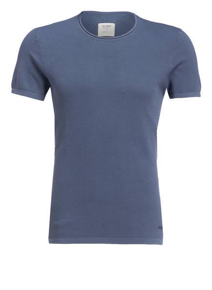 OLYMP Strick-Shirt Level Five body fit, Farbe: BLAU (Bild 1)
