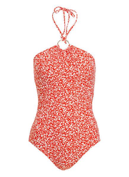 MICHAEL KORS Neckholder-Badeanzug, Farbe: ROT/ WEISS (Bild 1)