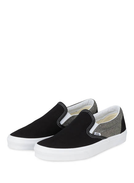 VANS Slip-on-Sneaker CLASSIC, Farbe: SCHWARZ/ GRAU (Bild 1)