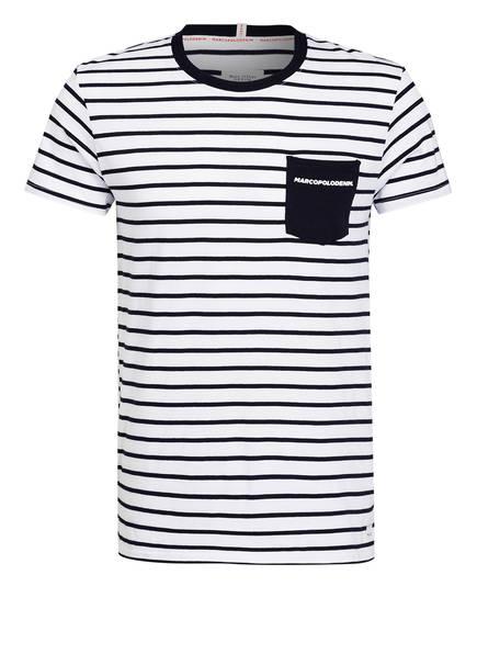 57408134fc1056 Marc O'Polo DENIM T-Shirt, Farbe WEISS/ BLAU GESTREIFT (Bild