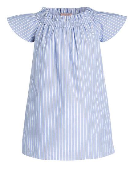 SCOTCH R'BELLE Off-Shoulder-Kleid , Farbe: BLAU/ WEISS GESTREIFT (Bild 1)