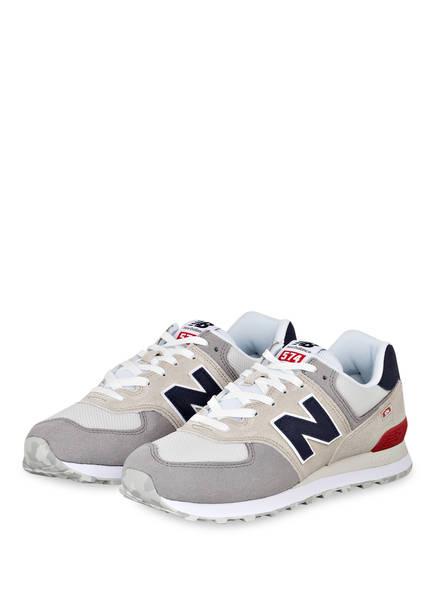 new balance Sneaker ML574, Farbe: GRAU/ BEIGE/ ROT (Bild 1)