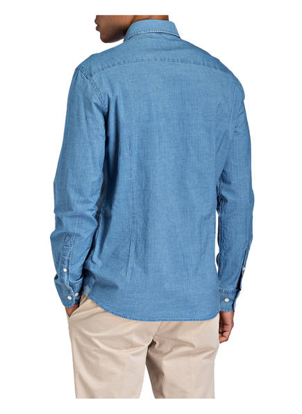 Slim Hemd Blau Hackett London Fit a05xEwq