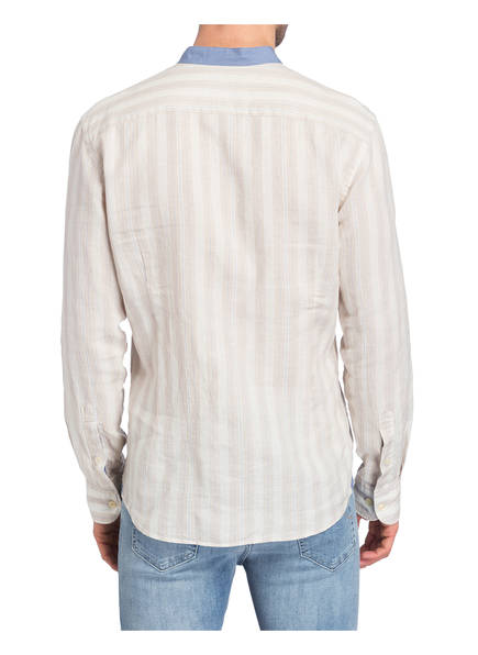 Stehkragen Hackett Mit Beige Hemd Fit Creme London Slim Gestreift Blau XqwTqn16