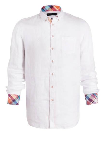COLOURS & SONS Leinenhemd LIAM Slim Fit, Farbe: WEISS (Bild 1)