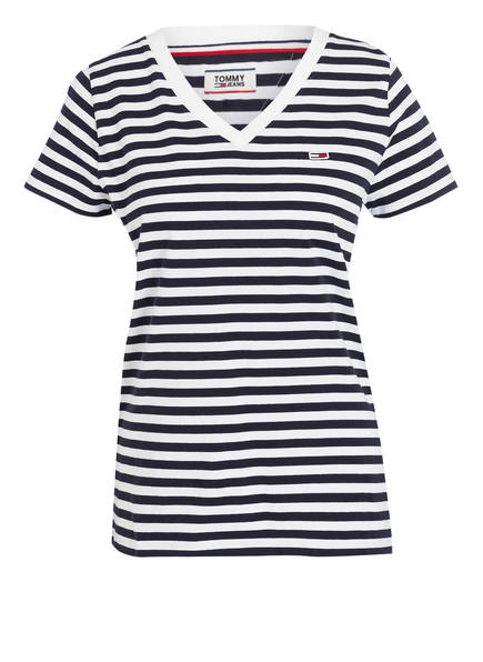 TOMMY JEANS T-Shirt, Farbe: DUNKELBLAU/ WEISS GESTREIFT (Bild 1)