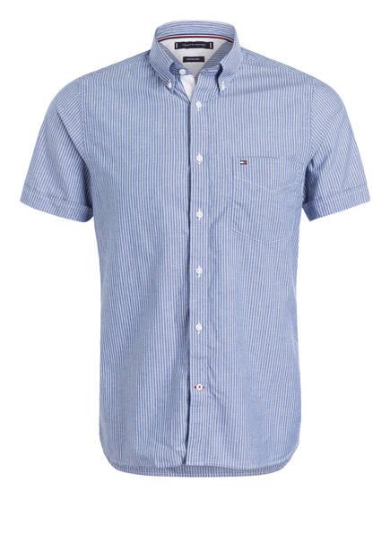 TOMMY HILFIGER Halbarm-Hemd Slim Fit , Farbe: BLAU/ WEISS GESTREIFT (Bild 1)