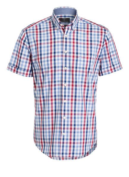 FYNCH-HATTON Halbarm-Hemd Casual Fit, Farbe: WEISS/ BLAU/ ROT KARIERT (Bild 1)
