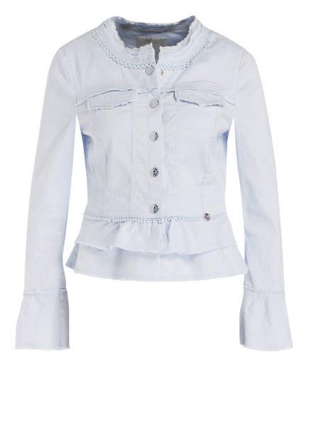 SPORTALM Jeansjacke mit Leinenanteil, Farbe: HELLBLAU (Bild 1)